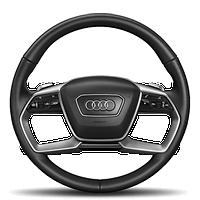 Многофункциональный руль с отделкой кожей, с двойными спицами, с функцией переключения передач и обогревом