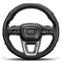 """Многофункциональный спортивный кожаный руль, дизайн - """"3 спицы"""", с расширенными функциями управления на руле"""