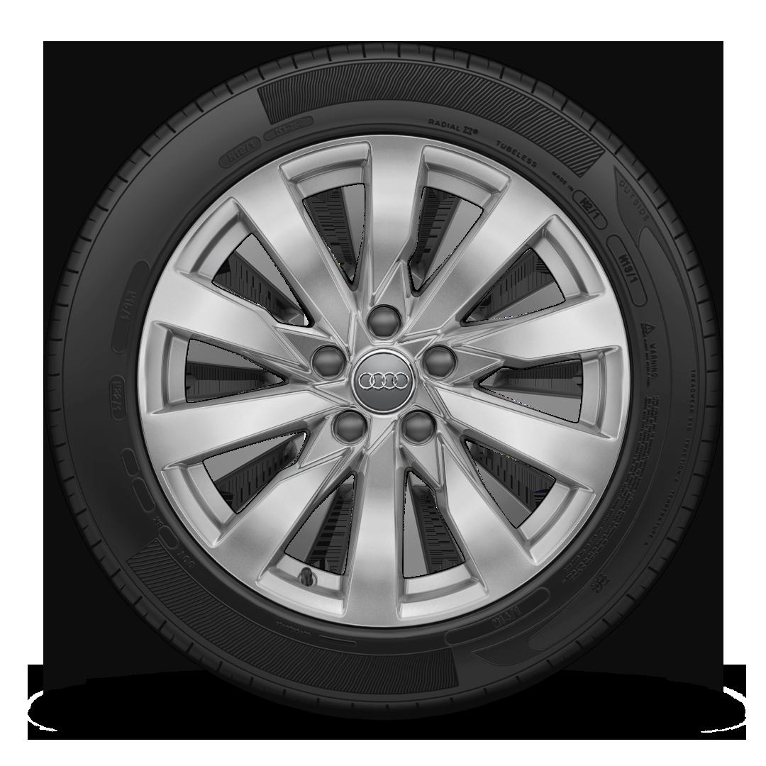 "Легкосплавные диски, дизайн ""10 спиц turbine style"", размер 7, 5J × 17 с шинами 225/45 R17"