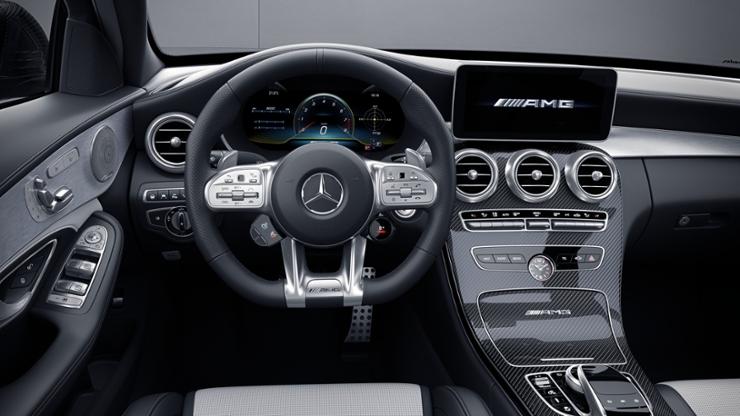Мультифункциональное AMG Performance рулевое колесо из кожи наппа