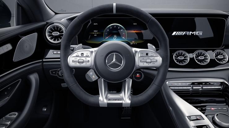 Мультифункциональное AMG Performance рулевое колесо из ткани DINAMICA