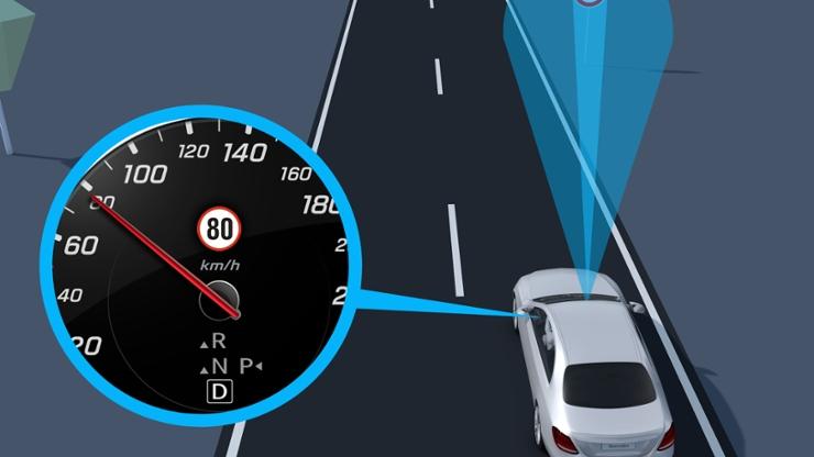 Ассистент распознавания дорожных знаков Traffic Sign Assist
