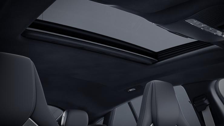 Обивка потолка из микроволокна DINAMICA черного цвета