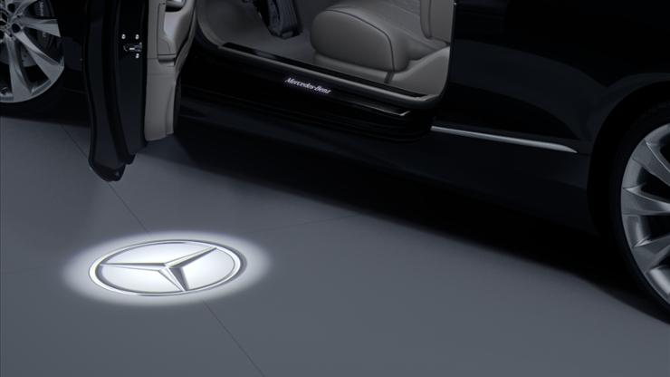 Круговое освещение с проекцией логотипа бренда