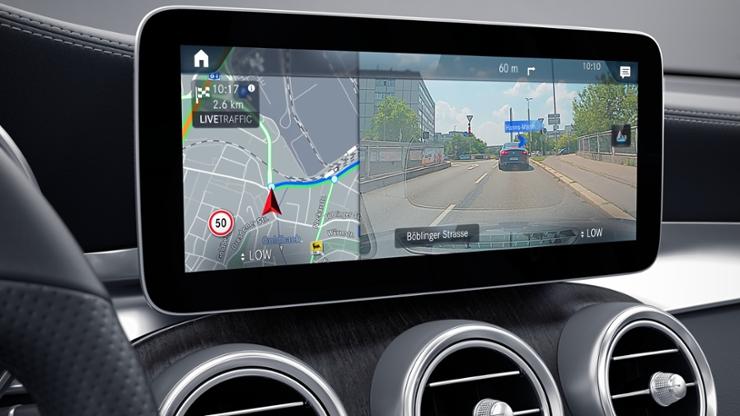Функция дополненной реальности для навигационной системы MBUX