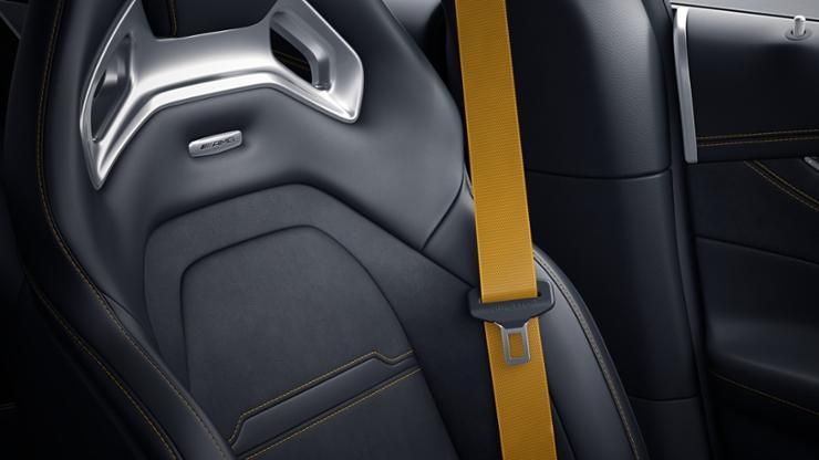 Желтые ремни безопасности designo