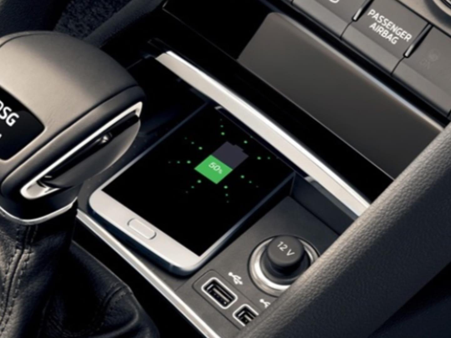 Bluetooth, соединение с внешней антенной, беспроводная зарядка телефона