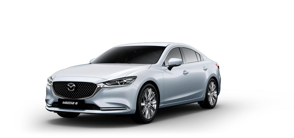 Mazda 6 Supreme Plus 2020 - комплектация и фото: Автомат коробка передач, бензиновый двигатель, цвет: Snowflake White Pearl у официальных дилеров 186391