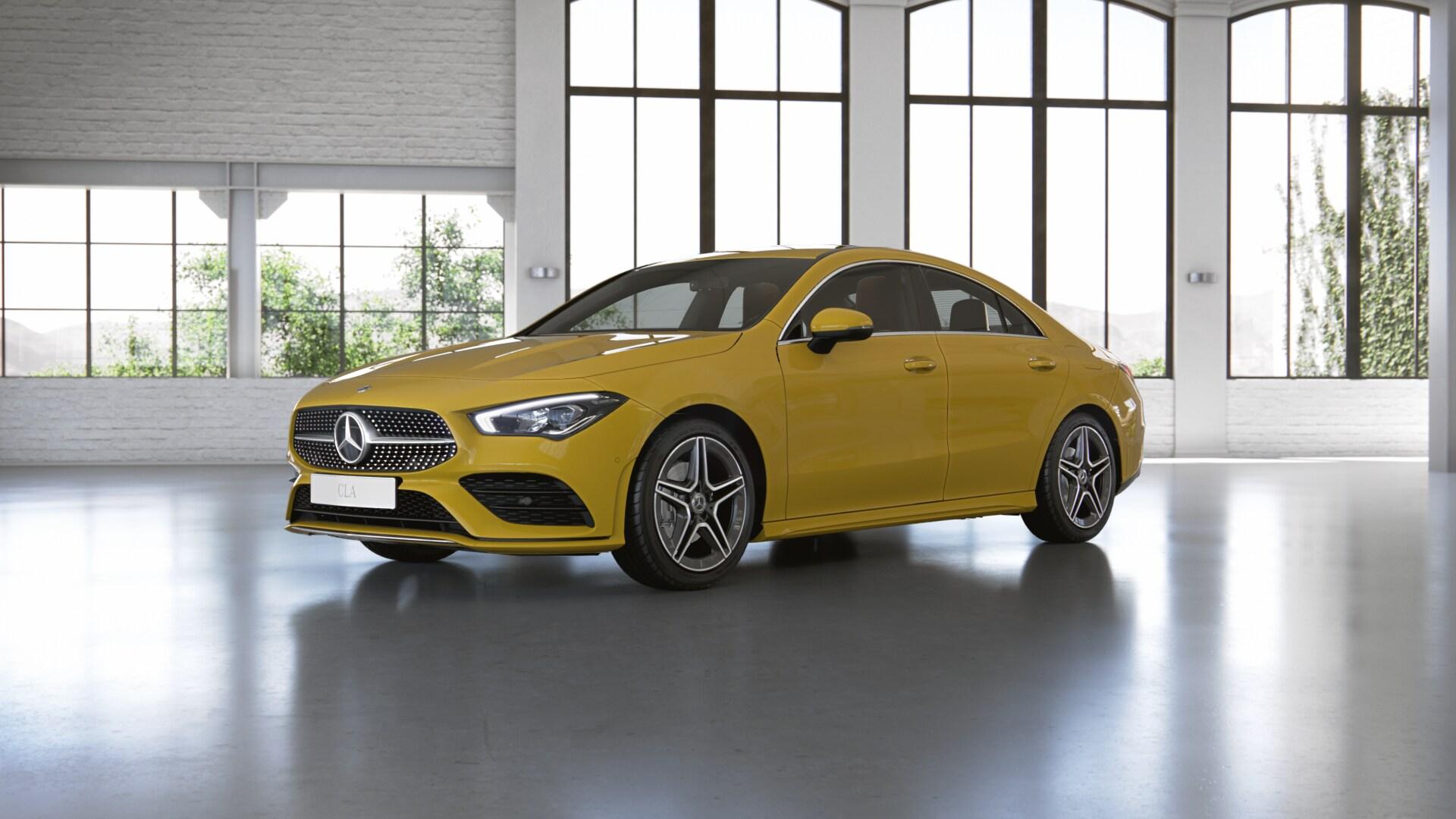 Mercedes-Benz CLA CLA 200 2020 - комплектация и фото: Робот коробка передач, бензиновый двигатель, цвет: Желтое солнце у официальных дилеров в Всей России 171828